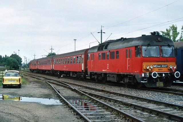 MÁV MDmot 3027 in Eger op 5-8-2005 (SCAN)