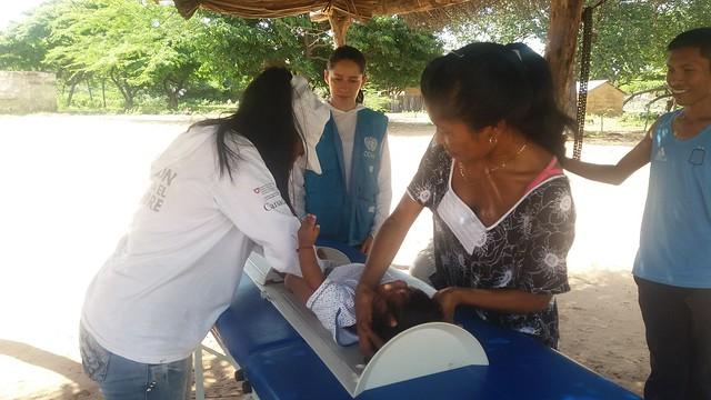 """Misión de monitoreo final - Proyecto """"Atención en salud y nutrición y respuesta rápida en agua segura y promoción de la higiene en comunidades Wayuu afectadas por El Niño en el municipio de Maicao, departamento de la Guajira"""" Acción Contra el Hambre"""