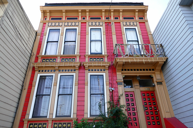 mission walkies, newly-painted victorian architecture