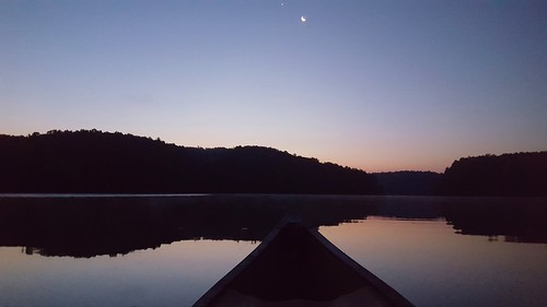 lake water canoe kayak paddle starlightpaddle sunset silouette moonlightpaddle