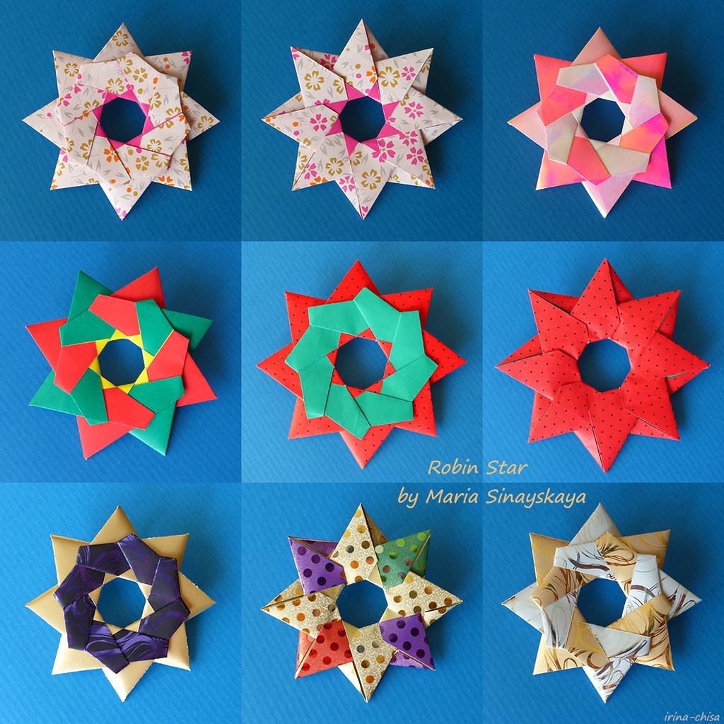 Robin Star of 8 details by Maria Sinayskaya - Origami Tutorial ... | 1024x1024