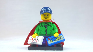 Brick Yourself Custom Lego Figure Kid with Cards & Box of Lego | by BrickManDan