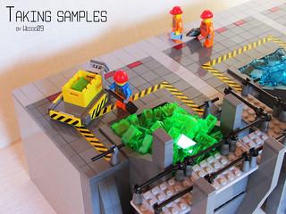 Material storage - Taking samples
