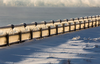 Frozen spray of Lake Ontario on sea wall railing of RC Harris Water Filtration plant - Toronto | by Phil Marion (173 million views - THANKS)