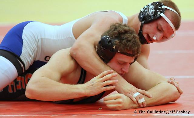 160 Semifinal - Peyton Robb (Owatonna) 11-0 won by decision over Austin Brenner (St. Cloud Tech) 10-2 (Dec 4-1) - 171216BJF0352