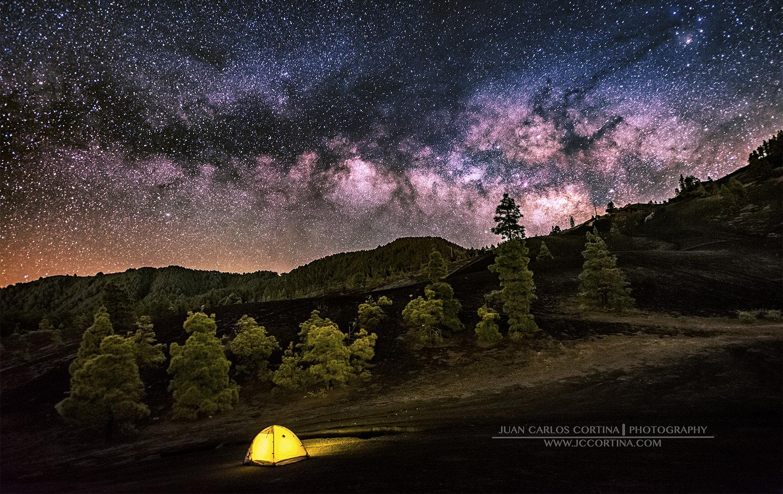 El Bosque Nocturno, Foto ganadora del tercer premio del concurso internacional de astrofotografía de La Palma 2017