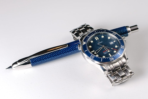 Watch and pen - blue