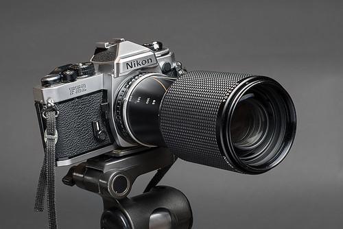 Nikon FE2 with Nikon Series E 70-210mm lens