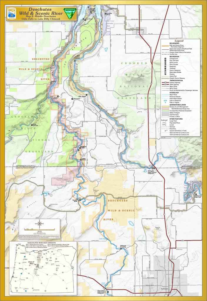 Crooked river oregon map