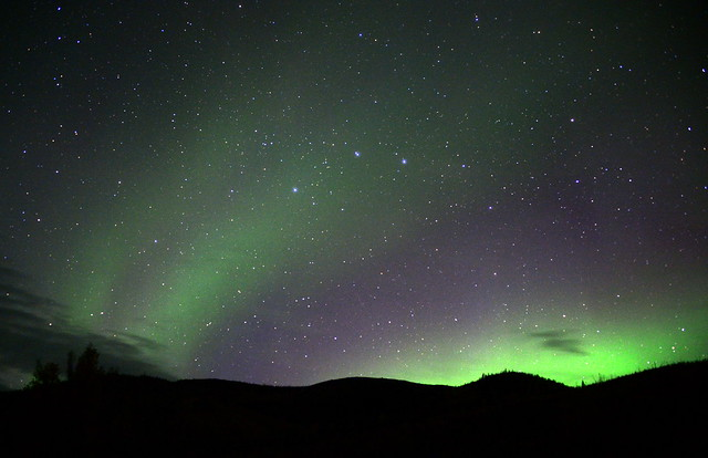 Aurora Borealis near Chena Hot Springs, Alaska