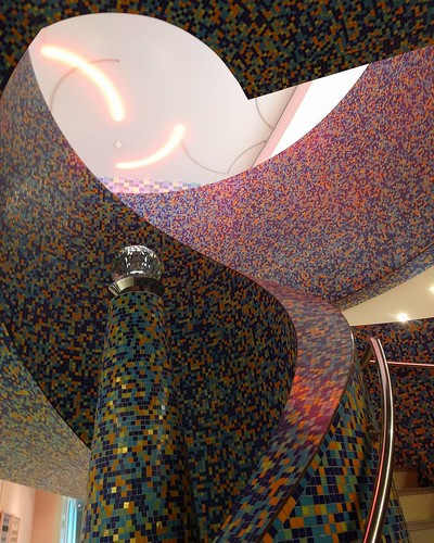 Groninger Museum stairwell #architecture #mosaic #museum