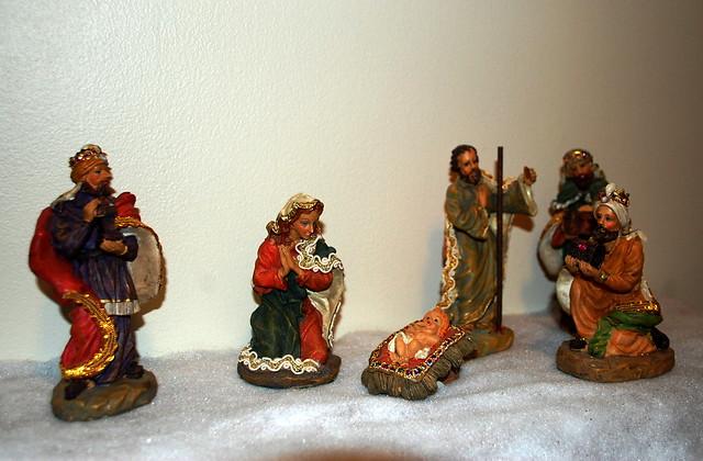 Christmas Morning Nativity Scene.