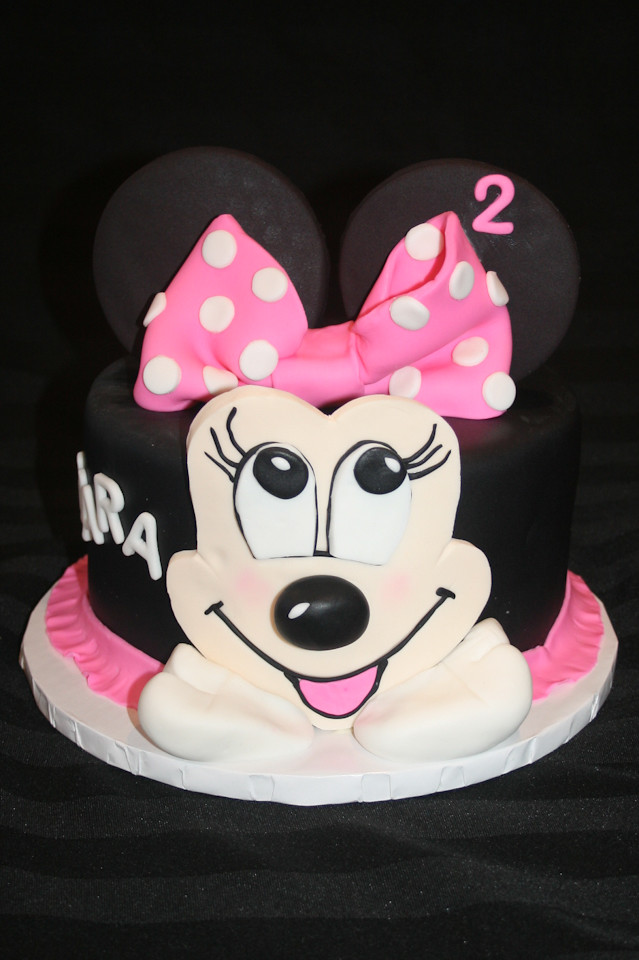 Amazing Minnie Mouse 2Nd Birthday Cake A Photo On Flickriver Personalised Birthday Cards Veneteletsinfo
