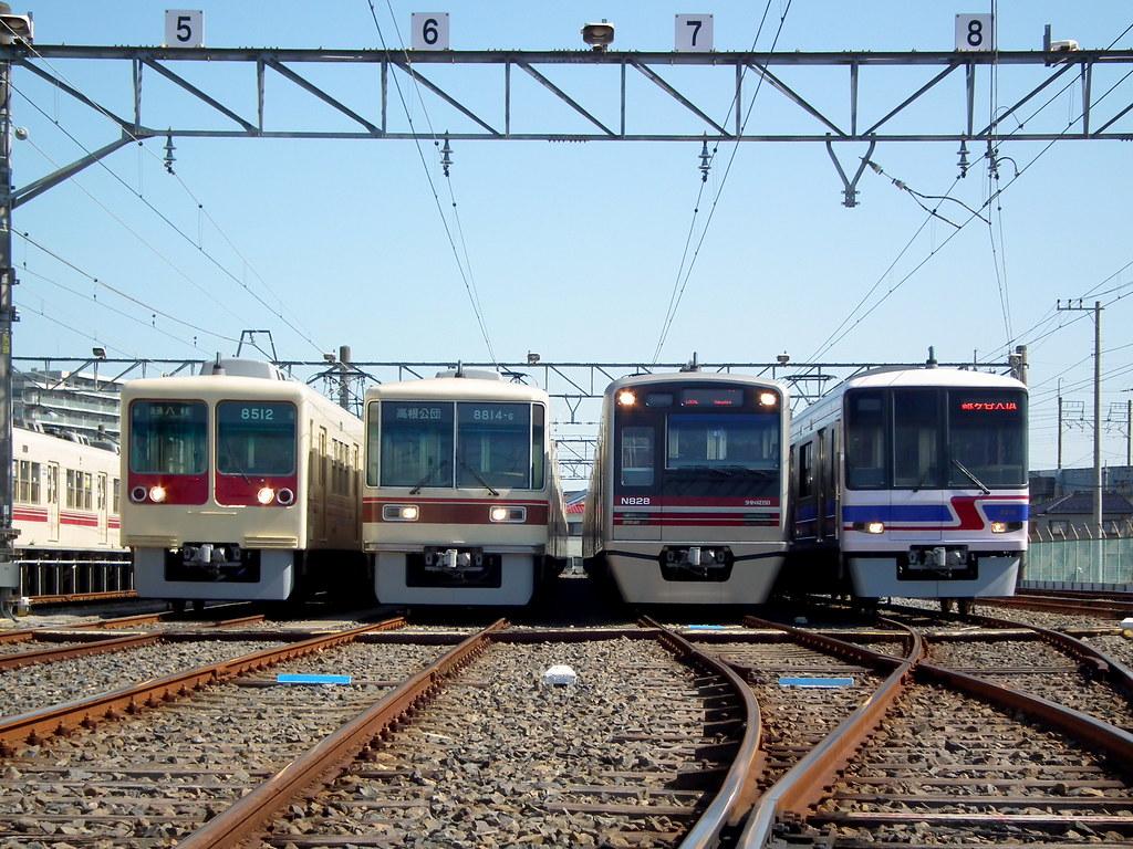 Shin-Keisei Electric Railway Kunugiyama Rail Yard 新京成電鉄 くぬぎ山車両基地