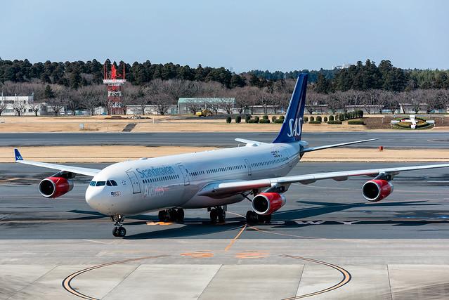 OY-KBA | Airbus A340-313 | SAS | Tokyo Narita | March 2017
