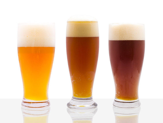Paulaner Glasses Beer Family on white