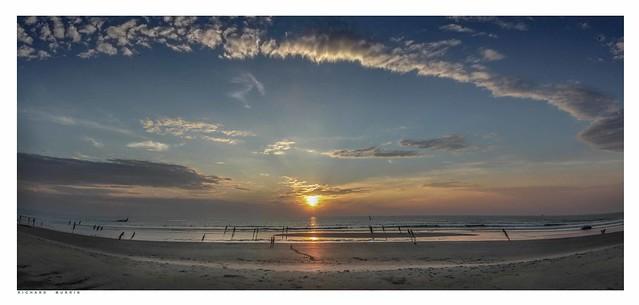 Cavelossim Beach Sunset, कावेलोस्सिम बीच, Cavelossim, Goa, India.