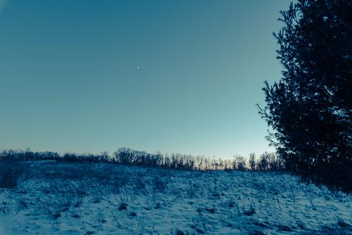 december minnesota southerntrails williamobrienstatepark dusk evening snow sunset winter marineonsaintcroix unitedstates us