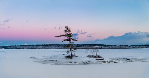 androscoggin maine sunset topsham river sundown dusk ice snow winterisland