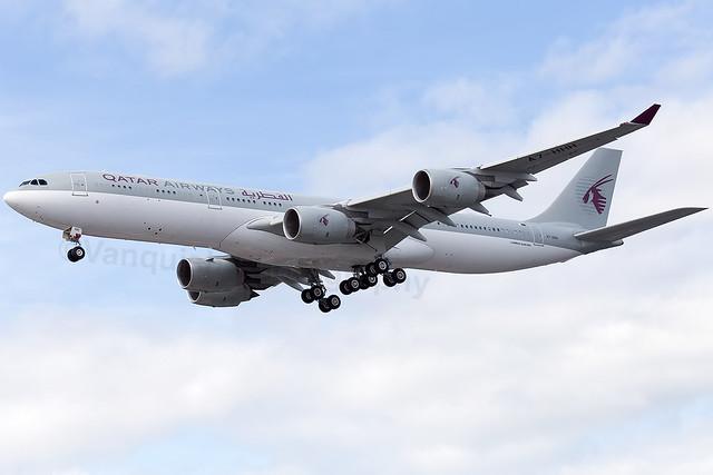 A7-HHH QATAR Amri Flight A340-500 London Heathrow Airport