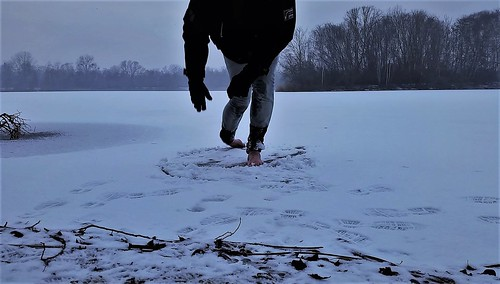 barefoot on ice