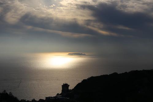 morning glow hatsushima 初島 熱海 伊豆山 sea island ocean cloud