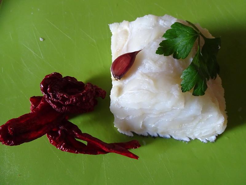 Baccalà con peperoni cruschi/cerasedd