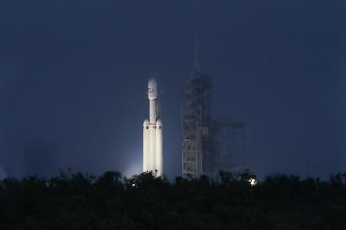 rocket launchpad39a kennedyspacecenter nasa falcon9 florida night ksc spacex merrittislandnationalwildliferefuge capekennedy falconheavy spacecenter unitedstates us