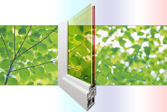 double-pane solar window