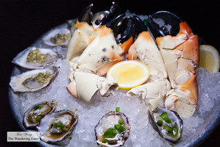 Kusshi Jalapeño and Ponzu and Kumamoto, Wasabi Leaf & Lemon oysters and jumbo Stone crab claws | by thewanderingeater