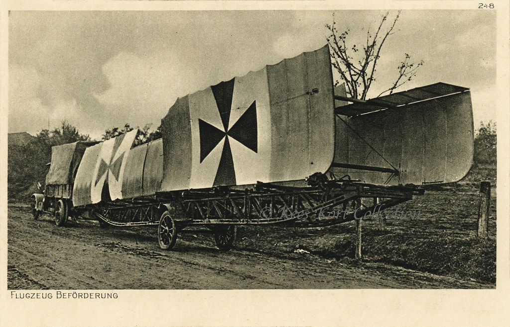 A Complete Set Of Biplane Wings Ready For Transport On A L Flickr
