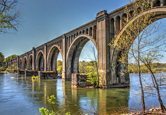 CSX Railroad Trestle Across The James River-Richmond VA 03773