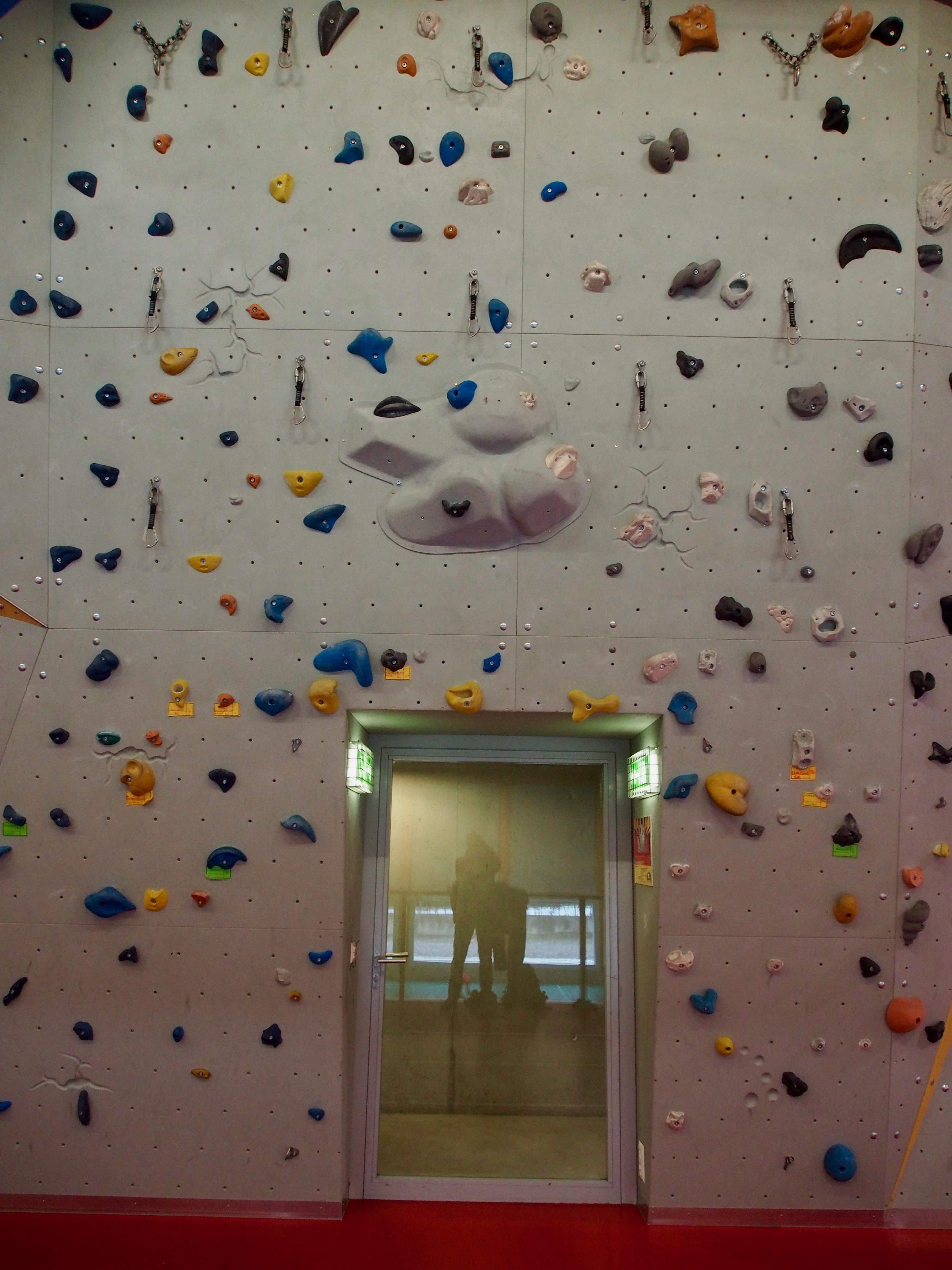 Impressionen der Kletterwand