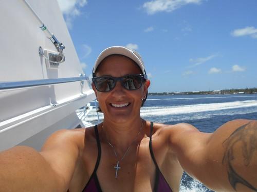 Jen Topside Selfie   by Sail Fish Scuba