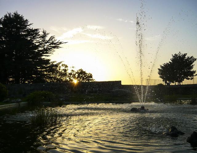 Sunset over Parque do Castro, Vigo