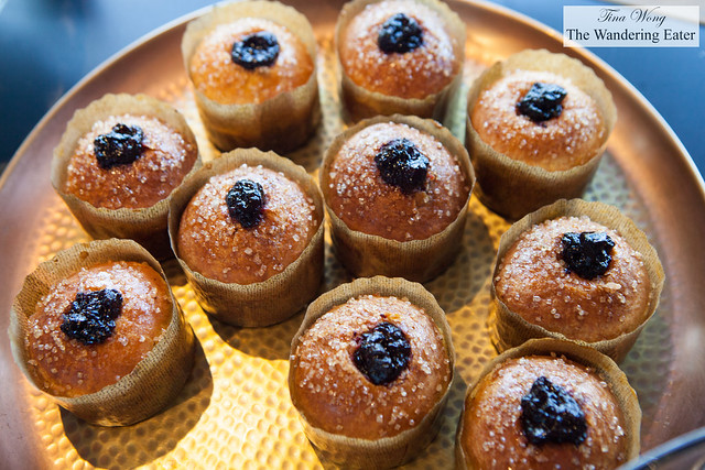 Brioches with cherry jam