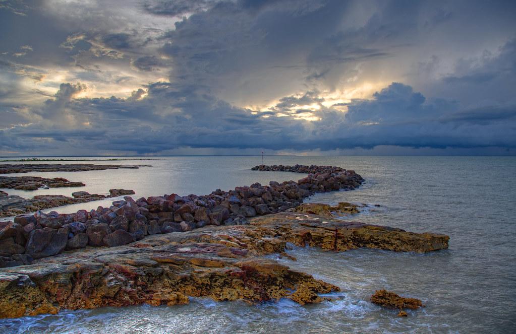 The monsoon awakens at sunset
