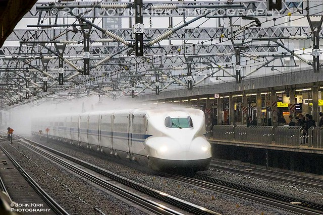 Shinkansen meets rain at 300kph (2017)