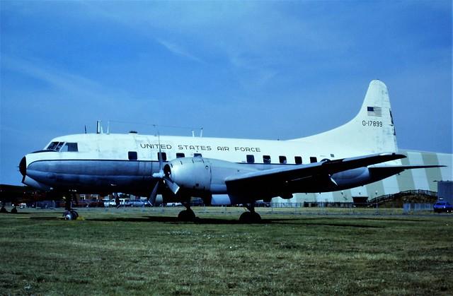 VT-29B Samaritan 51-7899 (As 0-17899) ex USAF. Preserved, Duxford Imperial-War-Museum/ IWM, 21 July 1996. The Samaritan was sadly scrapped a few years later.