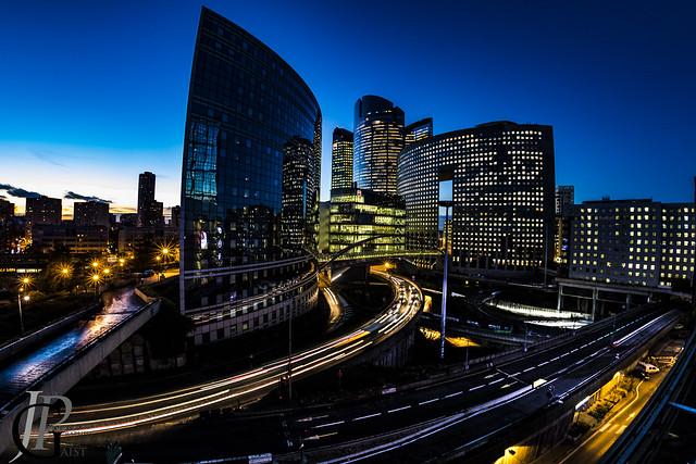 Blue hour from Paris La Défense