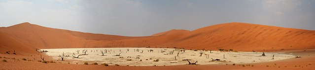 Namibia's Beauty:  the Dead Vlei: a panorama