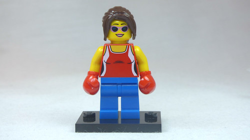 Brick Yourself Custom Lego Figure Foxy Boxing Lady   by BrickManDan