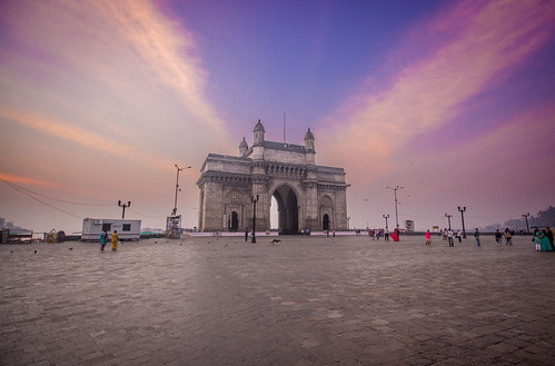 architecture building clouds colors dawn gatewayofindia hdr india mumbai outdoor sky sunrise