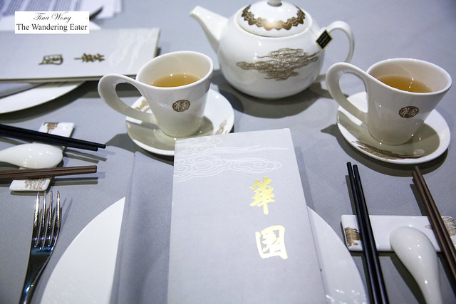 Table setting and tea