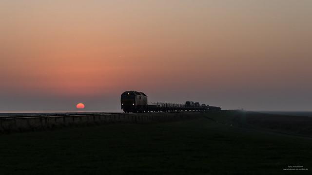 Sonnenuntergang am Hindenburgdamm