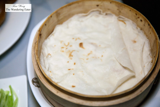 Steamed pancakes for Peking duck