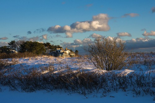 kennebunk maine mousamriver parsonsbeach cold winter goldenhour greathill