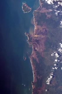 2004 Sumatra Tsunami damage seen from ISS