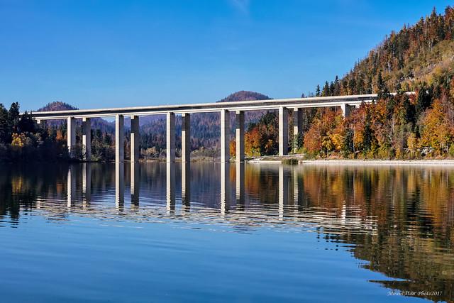 Fužine - jezero i most Bajer