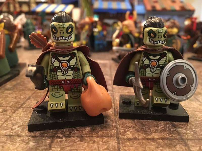 Argonians - Skyrim | Medieval minifigures | Ltfalcon - Lego
